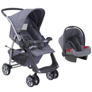 [Ricardo eletro] carrinho de bebe rio plus SE new  silver + bebe conforto- 699,00 frete gratis