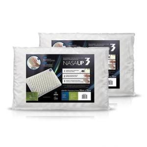 [Walmart]Kit com 2 Travesseiros Nasa Espuma e Viscoelástico Fibrasca UP3 50x70cm