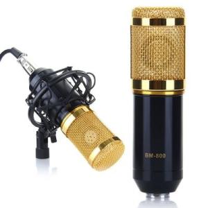 [GearBest] Microfone Condensador Dinâmico Profissional BM-800 + KIT de montagem - US$ 15,70 (R$ 51,75)