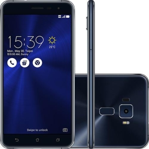 "[FNAC] Zenfone 3 - Tela 5.5"" 64GB 4G Câmera 16MP - Preto Safira - A vista."