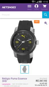 relógio puma essence 3hd preto - R$268