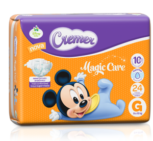 [CASAS BAHIA] Fraldas Cremer pacote Hiper Disney Baby