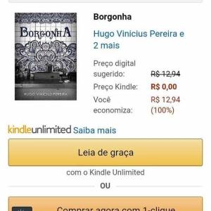 Livro Borgonha Grátis na amazon