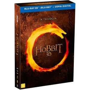 Blu-ray 3D - O Hobbit: A Trilogia - R$90
