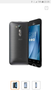 "Smartphone Asus Zenfone GO Dual Chip Android 5.1 Tela 4.5"" 8GB 3G Câmera 5MP - R$367"