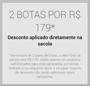 [Dafiti] 2 Botas por 179,00