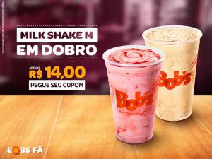2 milk shakes por R$14,00 reais