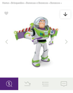 Boneco Buzz Lightyear Toy Story 64011 - Toyng | Comparar preço  por R$ 59