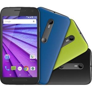 """[Sou Barato] Smartphone Motorola Moto G (3ª Geração) Colors HDTV Dual Chip Android 5.1 Tela 5"""" 16GB 4G Câmera 13MP - Preto + 2 Capas - R$700"""