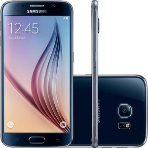 "Samsung Galaxy S6 32GB 4G Android 5.0 Tela 5.1"" Câmera 16MP - Preto"
