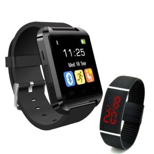 [EXTRA] Kit de Relógios S7S Smart multifuncional + Relógio de pulso smart com tela led
