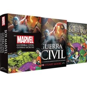 Box - Marvel: Guerra Civil e Guerras Secretas (Edição Slim) + Pôster - R$16