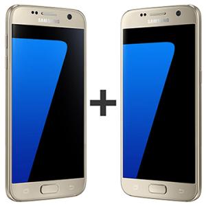 """Kit com 02 Smartphone Galaxy S7, Dourado, Tela 5.1"""", 4G+WiFi+NFC, Android 6.0, 12MP, 32GB - Samsung POR R$3907"""
