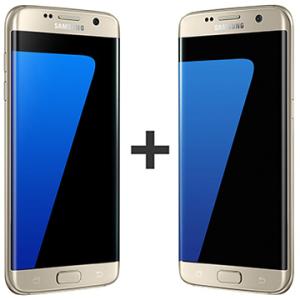 """Kit com 02 Smartphone Galaxy S7 Edge, Dourado, Tela 5.5"""", 4G+WiFi+NFC, 12MP, 32GB - Samsung por R$4651"""