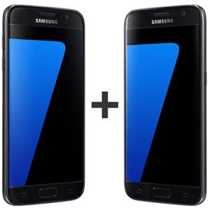 """COMBO 02 Smartphone Galaxy S7, Preto, Tela 5.1"""", 32GB - R$3907"""