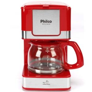 Cafeteira Elétrica Philco PH16 - Vermelho/Aço Escovado por R$ 54