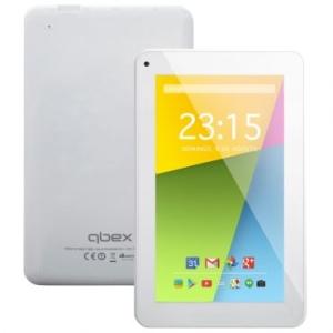 "Tablet Qbex TX753 Branco - 7"", Quad Core 1.2Ghz, 4GB, Android 4.4, Wi-fi, Câmera Frontal - R$175"