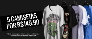 5 camisetas por R$149,90