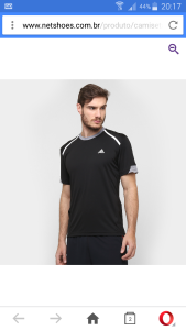 [Netshoes]Camiseta Adidas Adna Preto e Cinzar R$35.90