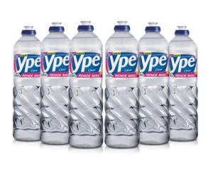 Kit com 6 Detergentes Líquidos Ypê Clear 500ml cada