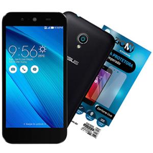 "Smartphone Asus Live Dual Chip, (BRANCO/PRETO), Tela 5"", 3G+WiFi, 8MP, 16GB, TV Digital+Película de Vidro R$ 650"