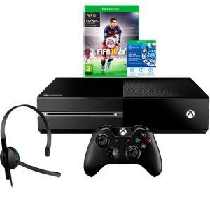 Console Xbox One 1TB + Game FIFA 16 (Via Download) + Headset com Fio + Controle Wireless