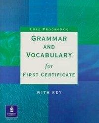 Grammar Vocabulary For First Cert Intermediate / Upper-intermediate Interm Workbook with Key por R$ 19