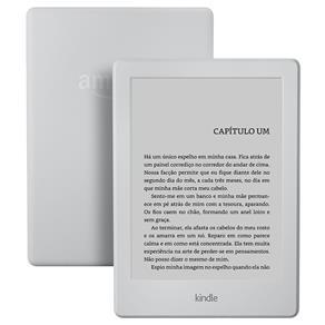"Kindle Branco 4GB, Tela 6"", (8ª Geração) - R$276,18"