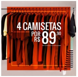 [Kanui] 4 camisetas R$89,90