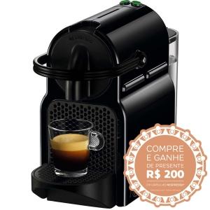 Cafeteira Nespresso Inissia R$299 + R$200 em cápsulas
