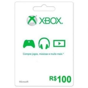 [ RICARDO ELETRO]-Cartão Pré Pago R$ 100,00 Para Xbox Live - Microsoft