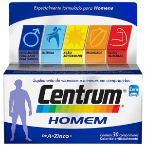 CENTRUM HOMEM COM 30 COMPRIMIDOS por R$ 33