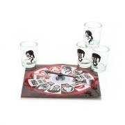 Jogo roleta casal com 4 copos shot Unica - R$10
