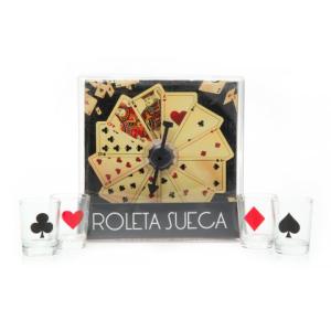 Jogo roleta sueca com 4 copos shot Unica - R$10