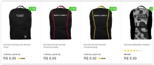 Mochilas Gamers por R$ 9