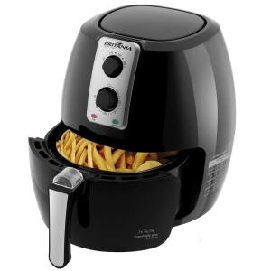 Fritadeira Air Fry Pro Britânia com 2,4 Litros - Preta