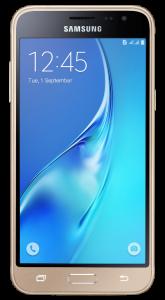 """[Saraiva] Smartphone Samsung Galaxy J3 2016 Dual Chip Dourado Tela 5""""Android 5.1 Quad Core Câmera 8Mp 8Gb"""