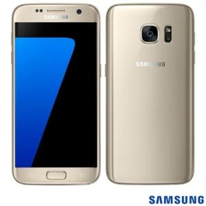 """Samsung Galaxy S7 Dourado, com Tela de 5.1"""", 4G, 32 GB e Câmera de 12 MP"""