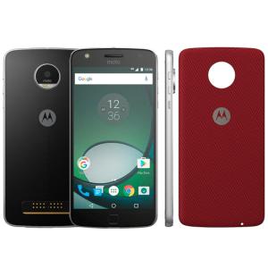 "Moto Z Play XT1635-02 Preto - 32GB, Câmera 16MP, Dual chip, 5,5""  + Capa vermelha - R$1799"