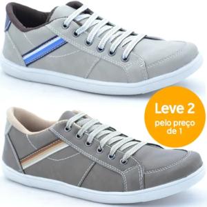 [NetShoes] Kit 2 Sapatênis Dexshoes Casual - Por: R$ 74.90 em 2x S/j