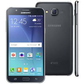 """[Extra] Smartphone Samsung Galaxy J7 Duos Preto, Dual chip, Tela 5.5"""", 4G, Câmera 13MP, Android 5.1 e Processador Octa Core de 1.5 Ghz"""