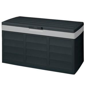 Baú preto e cinza com capacidade de 305 litros 59 x 118 x 53 cm - PACK AND GO