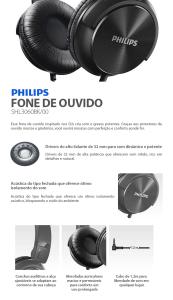 Headphone Philips Headband DJ Preto SHL3060BK/00