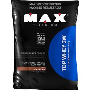 TOP WHEY 3W 1,8 KG REFIL - MAX TITANIUM por R$ 213