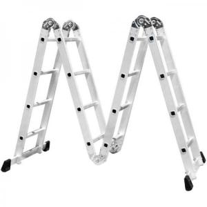 Escada Multifuncional 4x3 em Aço e Alumínio 12 Degraus por R$170