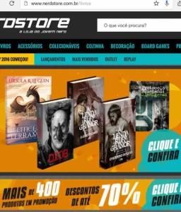 Todos os livros da Nerdstore em promoção.