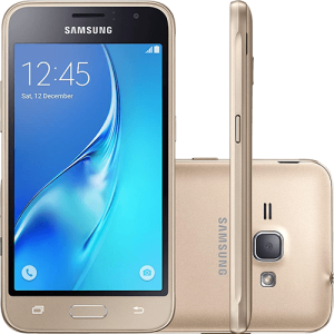 "Smartphone Samsung Galaxy J1 2016 Dual Chip, Android 5.1, Tela 4.5"", 8GB, Câmera 5MP - R$399,00"
