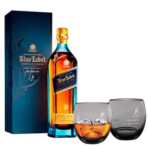 Whisky Importado Johnnie Walker Blue Label 750ml + 2 Copos | R$642,10
