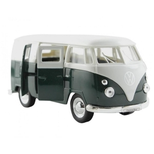 Carrinho Welly 1963 Volkswagen T1 Bus Escala 1:34 Dmc2423 Verde