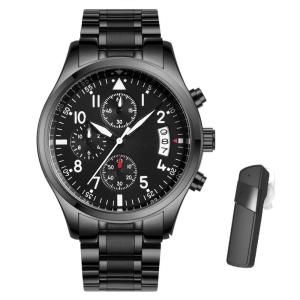 Kit Eletrônicos de Relógio executivo e Fone de ouvido Bluetooth